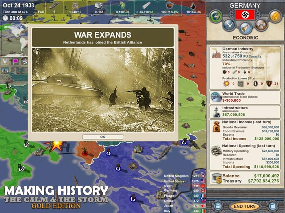 "A screenshot of ""Making History: The Calm and The Storm.""