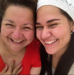 Maria Peniche and her mother