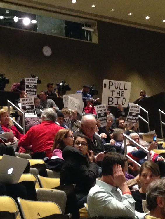 Protestors argue for Boston2024 to pull the bid