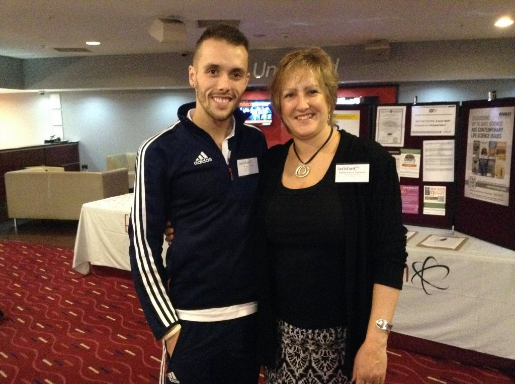 David Proctor and Paula Quatromoni at a presentation in London in January 2015 where they presented Proctor's case together at the Sports Science Summit. Photo courtesy of Paula Quatromoni