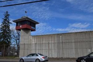 The guard tower at MCI-Concord where Figueroa's boyfriend is currently incarcerated.