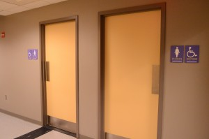 Sex-segregated restrooms like these at Emerson College are common. Photo by Daniela Jusino