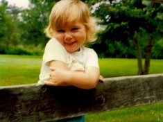 Laura Cole as a toddler. Photo courtesy of Laura Cole.