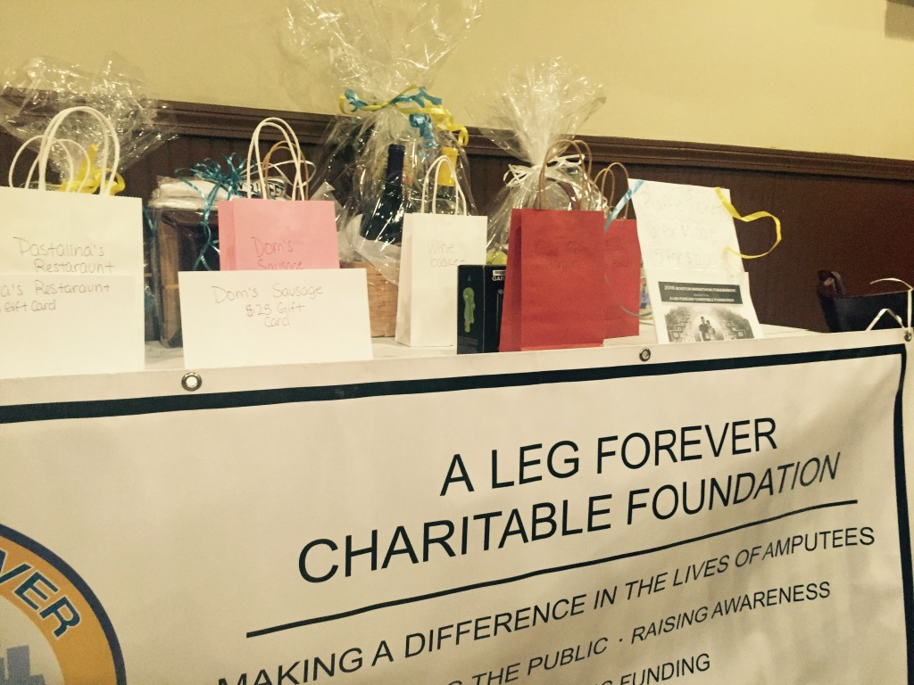 Gifts for people who support A Leg Forever nonprofit organization. Photo by Xinxin Yang