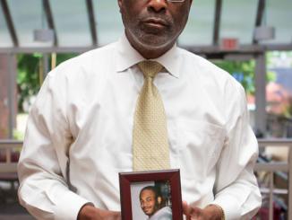 (Photo: Joseph Feaster lost his son to suicide/WBUR photo cred)