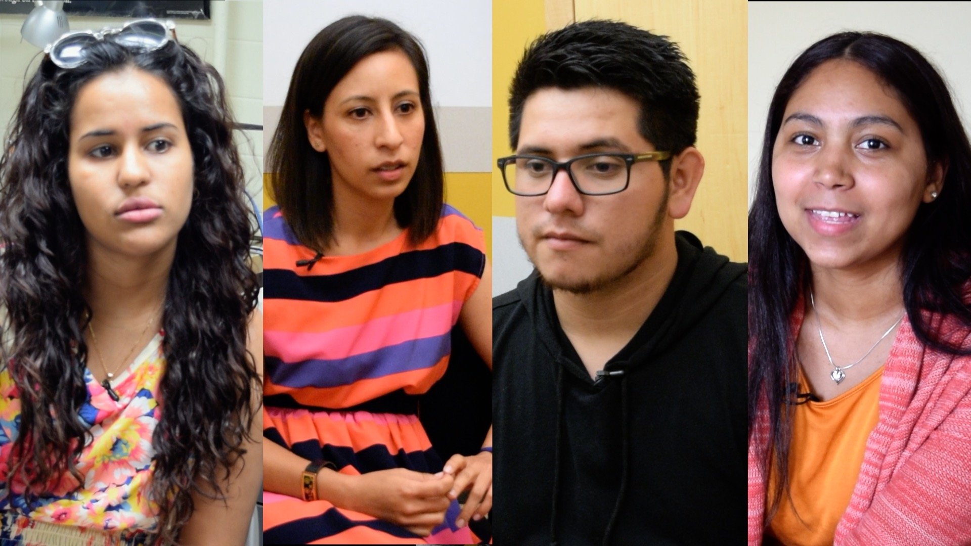 Ana Caldelon, Ithzel Polanco, Daylin Dominguez, and Perla Melo are all first generation college goers in their family.
